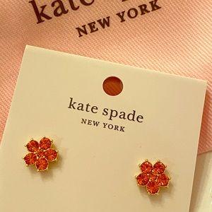 Kate Spade coral crystal earrings